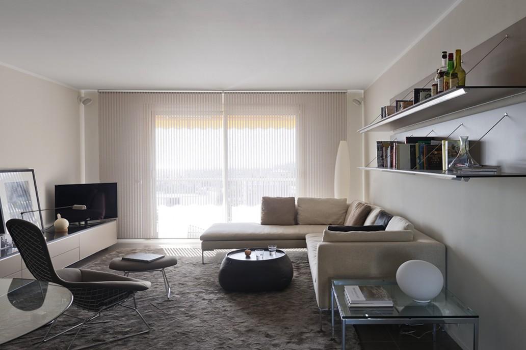 appartement décoré à Nice par Bel Oeil : mobiliers B&B Italia, Cassina, Knoll International. Bel Oeil Nice Cannes Monaco