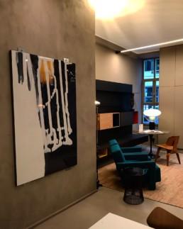 oeuvre Pascal Pinaud et fauteuils Utrecht Cassina Bel Oeil Nice Cannes Monaco