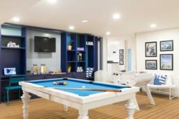 Salon vue du billard - Deck Holte Bel Oeil Nice Cannes Monaco