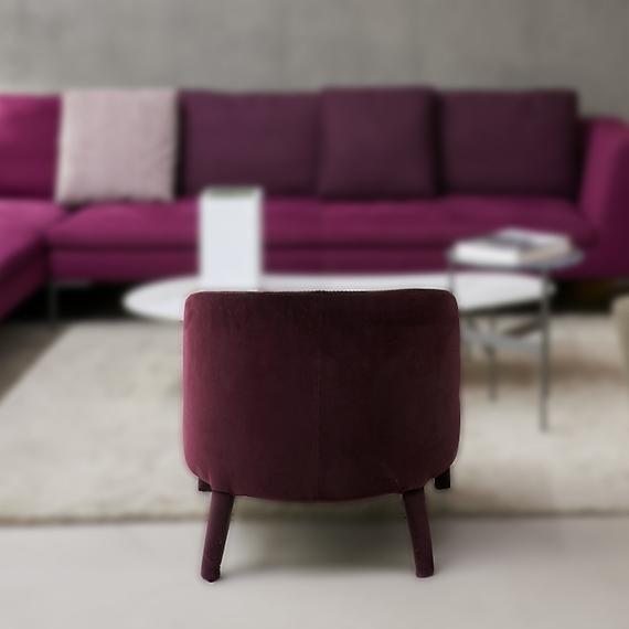 Fauteuil-Febo-violet Maxalto Bel Œil