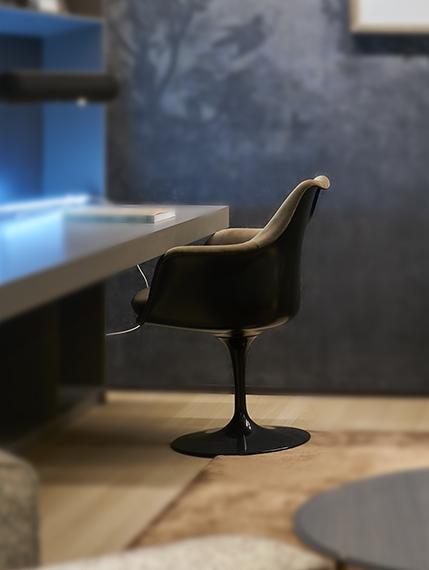 fauteuil Tulip Knoll Bel Oeil Nice Cannes Monaco