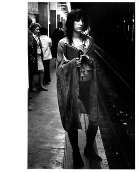 Patti Smith in Subway - 1971