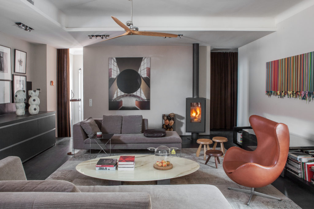 appartement de collectionneurs Charles B&B Italia Bel Oeil