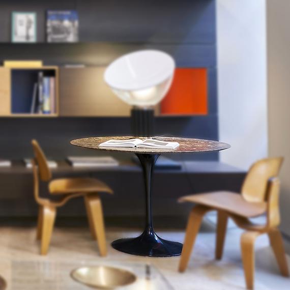 Table Tulip Ambiance Bel Œil Bibliothèque