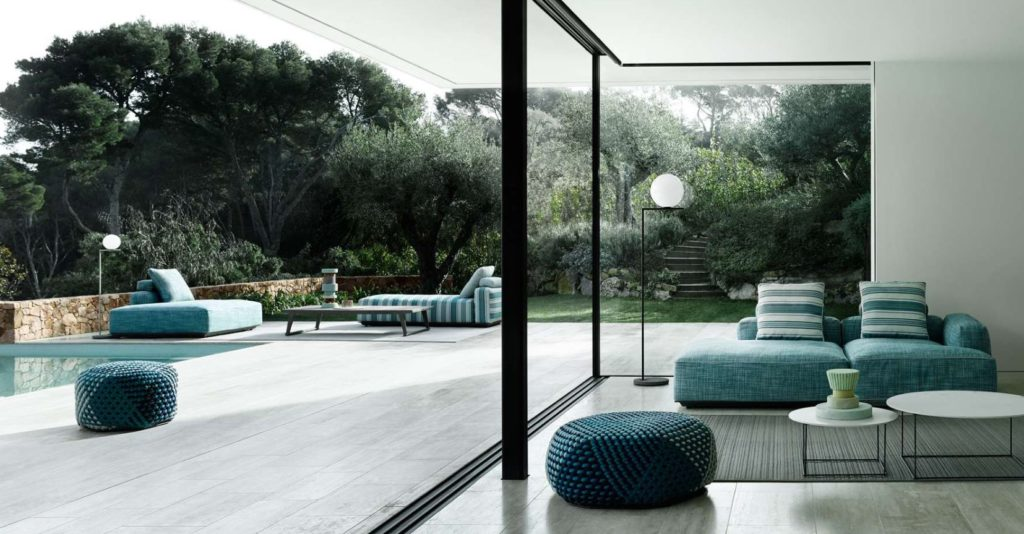 Photo article Blink, Voilà le Printemps, mobiliers exterieurB&B Italia - Hybrid Sofa System - A. Citterio