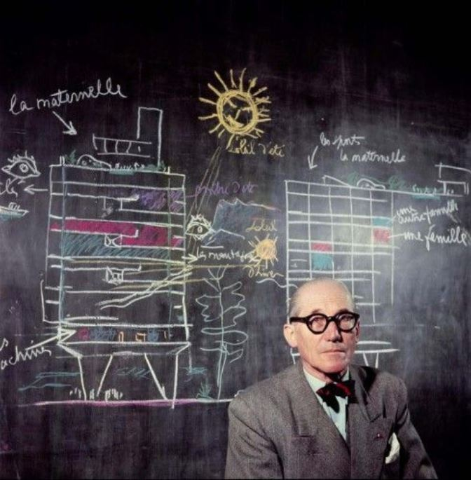"Photo article dans Blink, Le Corbusier ""Outdoor"""